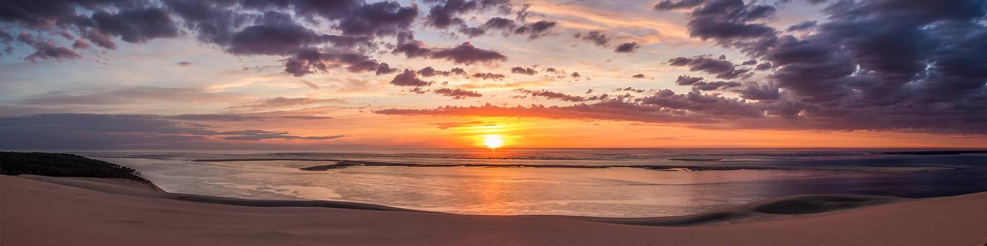 coucher soleil - dune du pilat