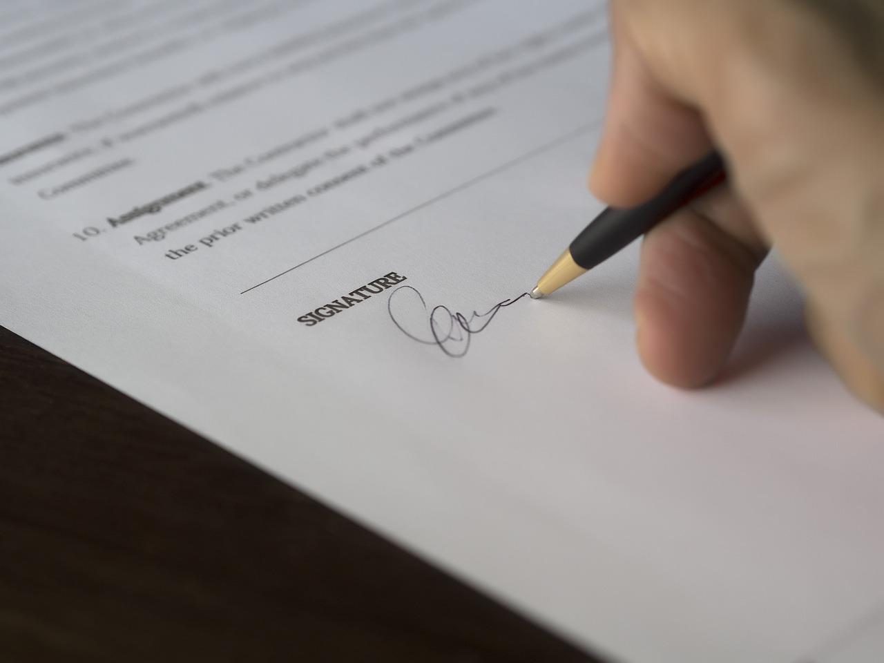 signature d'une transaction immobilière