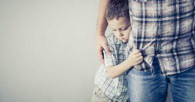 peur enfant avec son papa