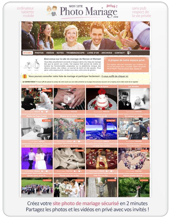 créer un site pour son mariage